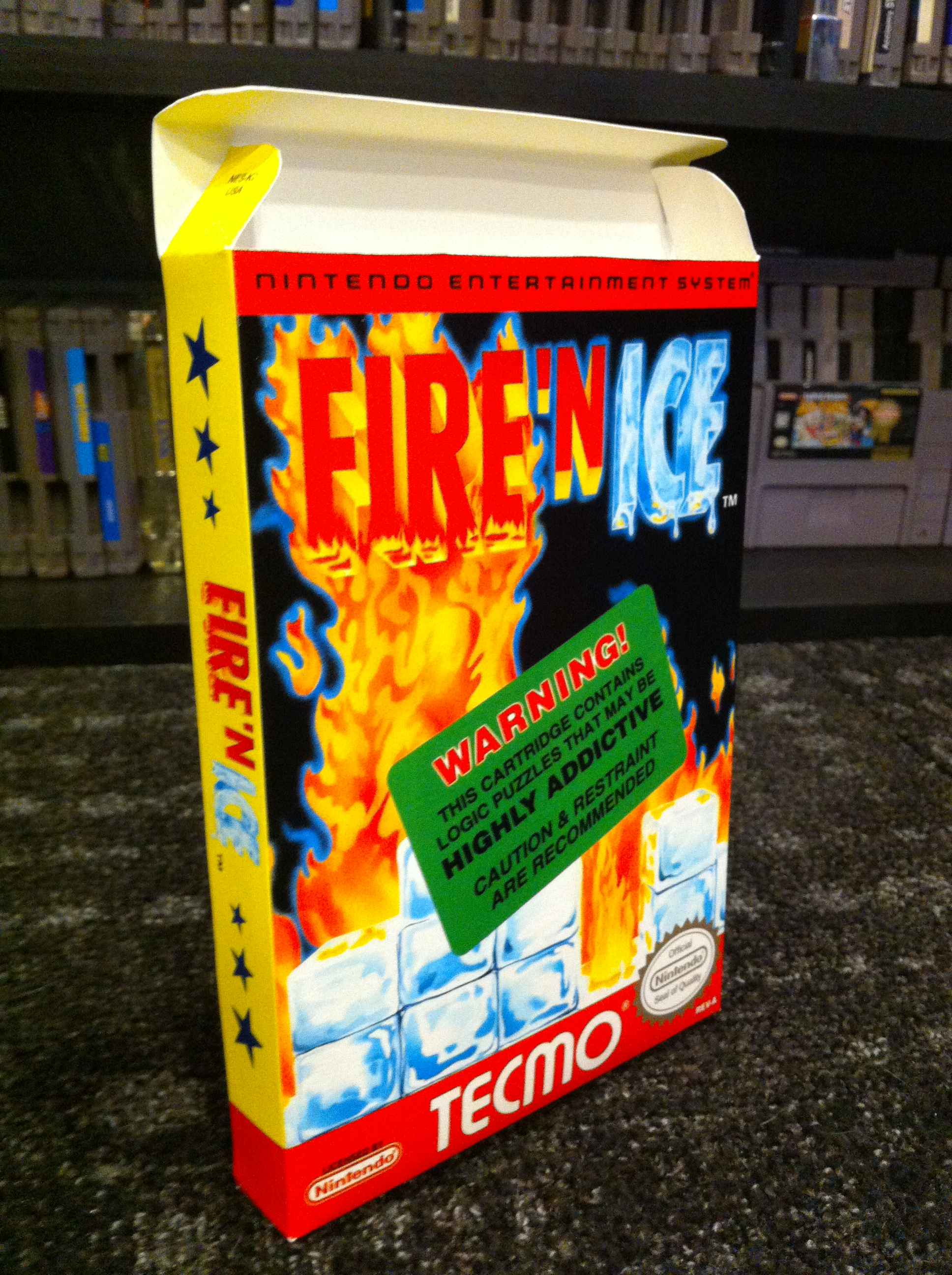 fire n ice box my games reproduction game boxes. Black Bedroom Furniture Sets. Home Design Ideas