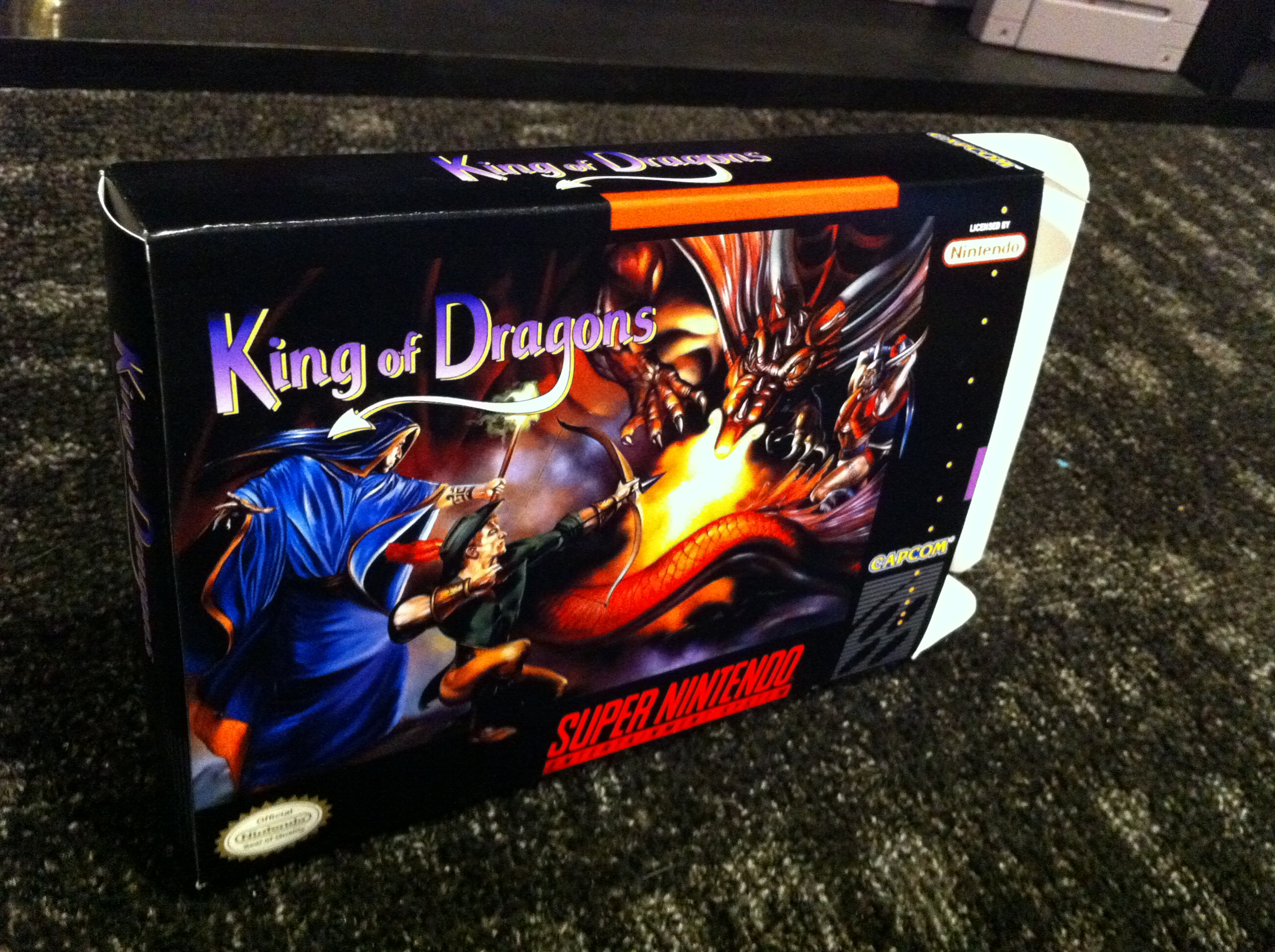 King of Dragons - Box My Games! Reproduction game boxes