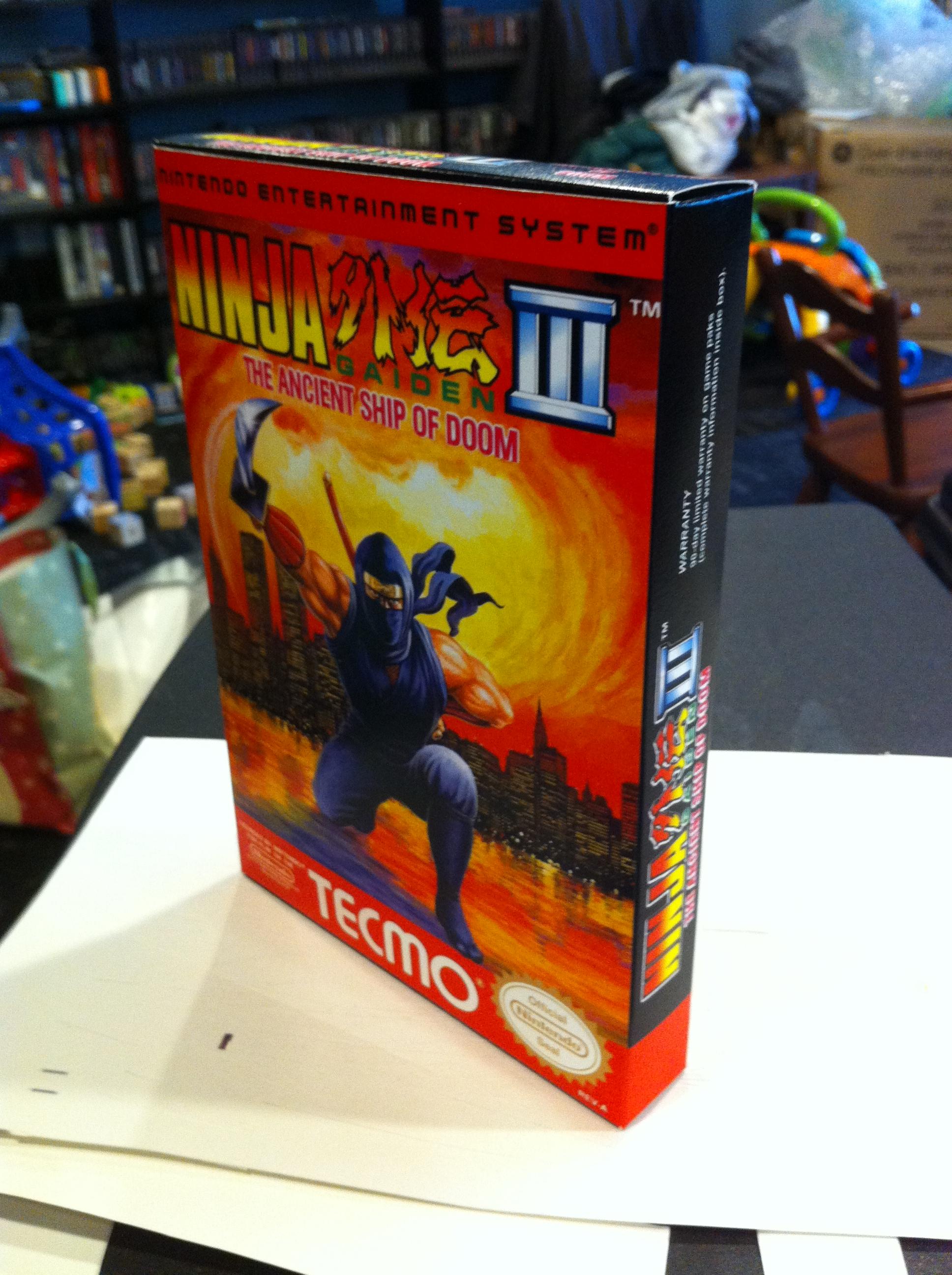 Ninja Gaiden 3 Box My Games Reproduction Game Boxes