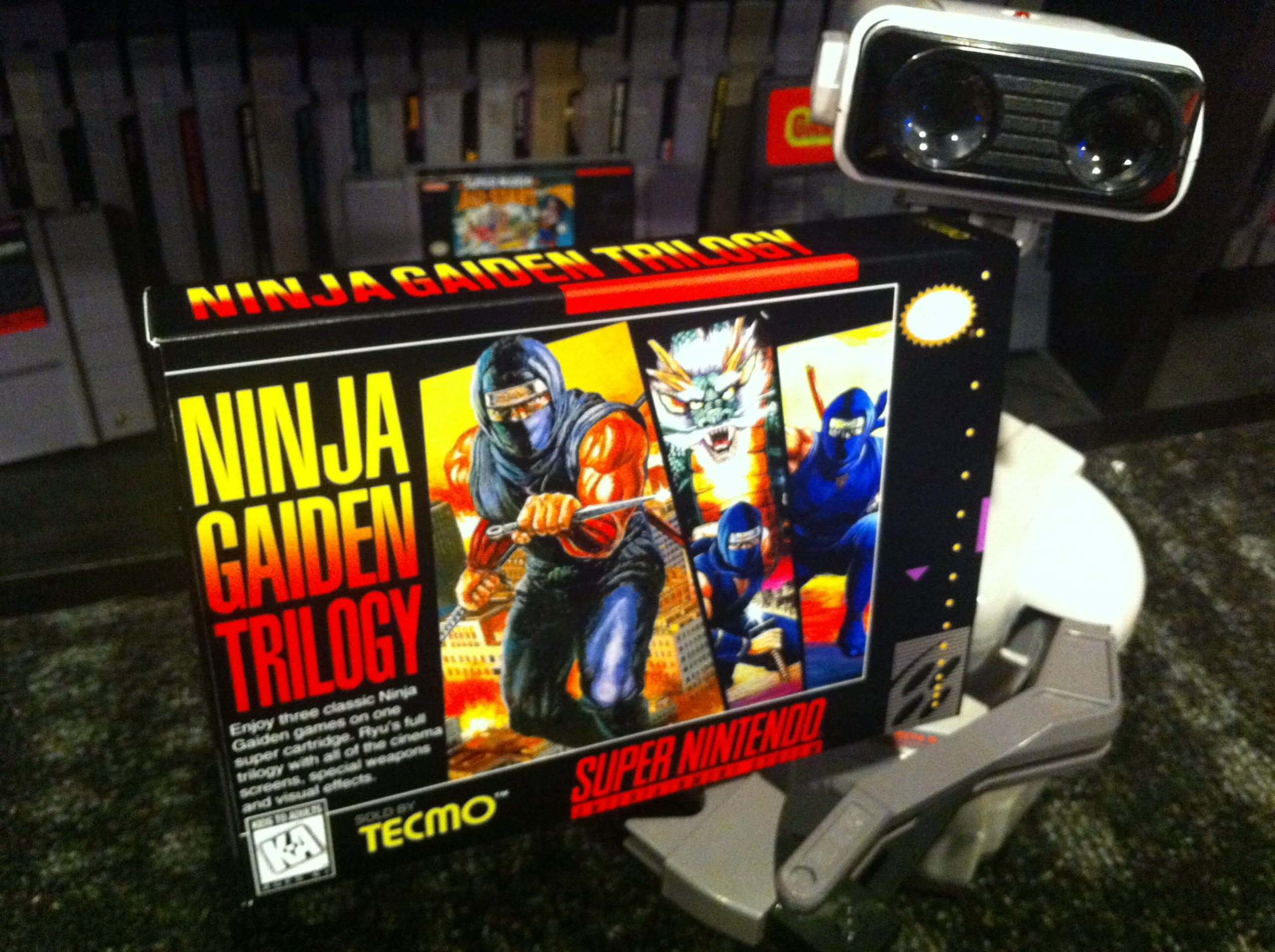 Ninja Gaiden Trilogy Box My Games Reproduction Game Boxes