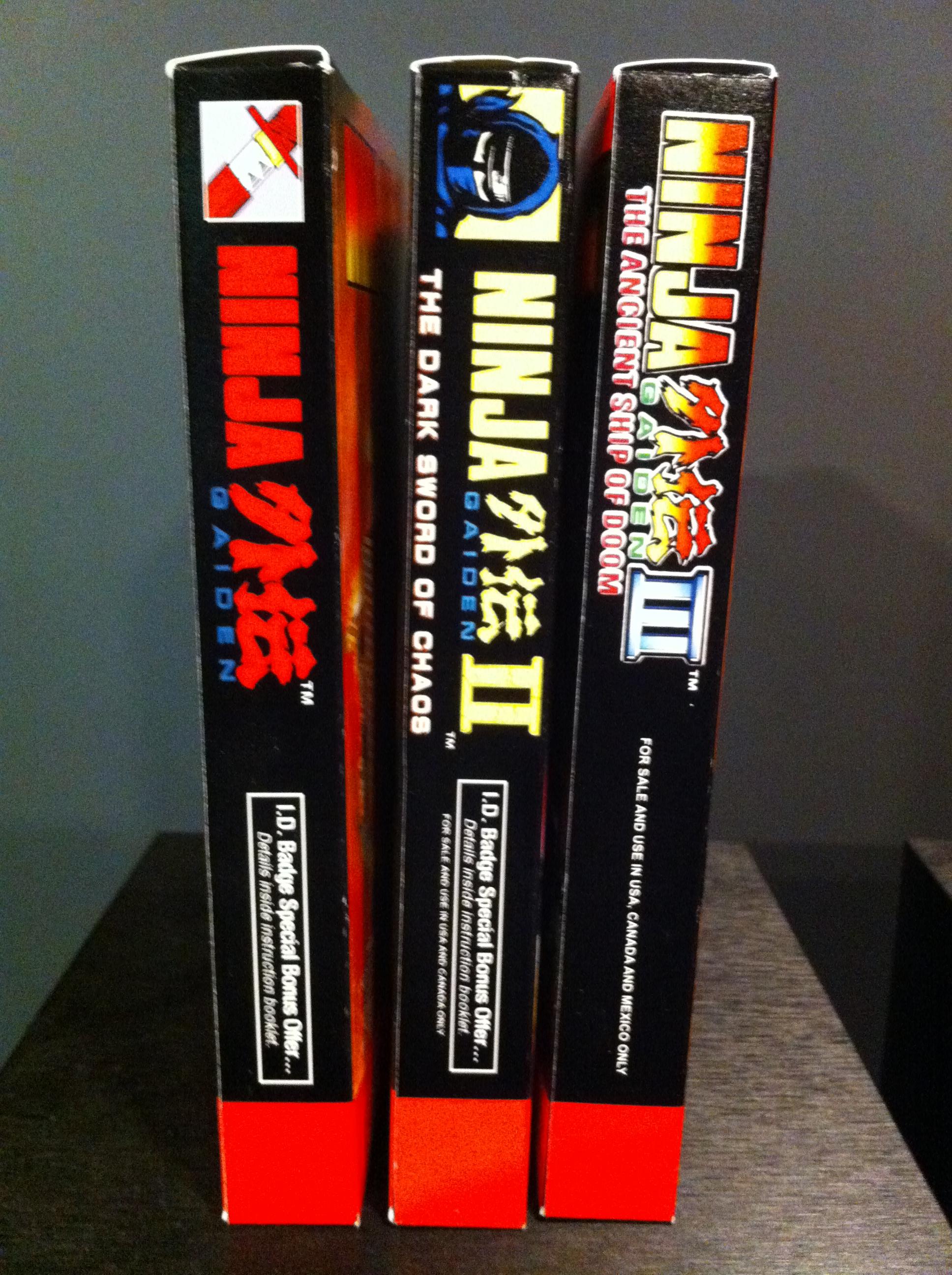 Ninja Gaiden 1 3 Box Set Box My Games Reproduction Game Boxes