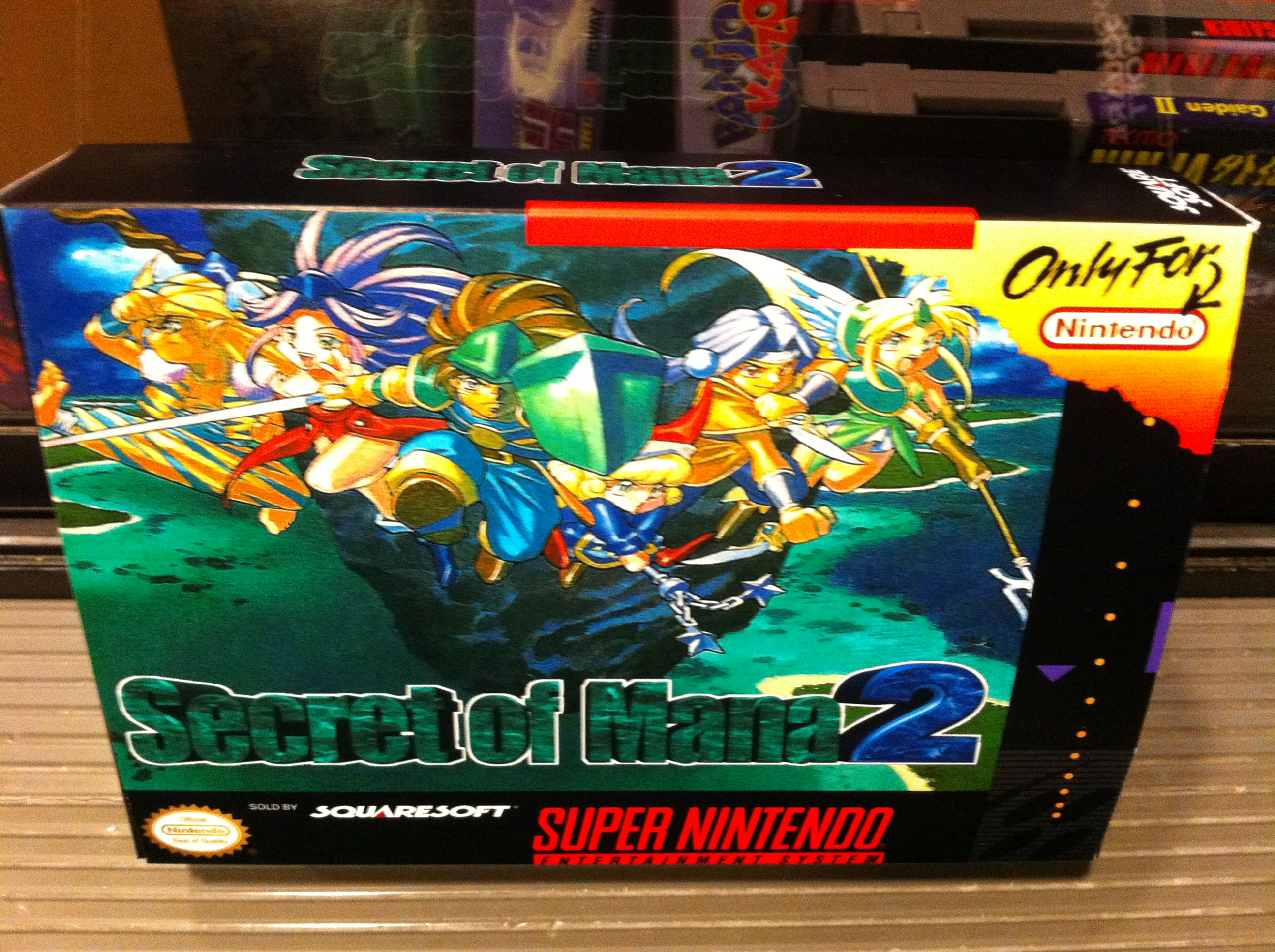 Secret of Mana 2 Box for the unreleased Super Nintendo NA ...