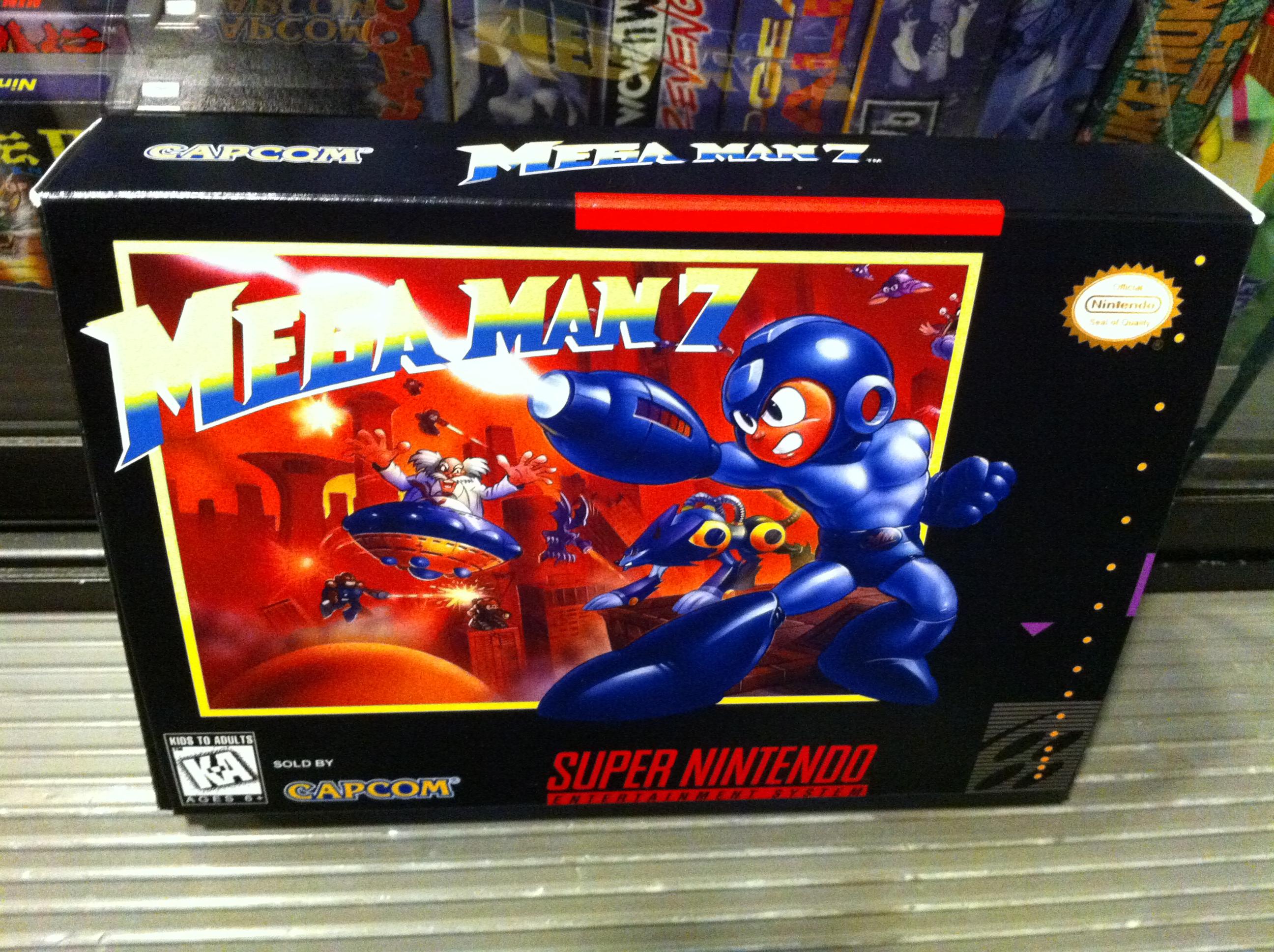 mega man 7 boxbox my games reproduction game boxes