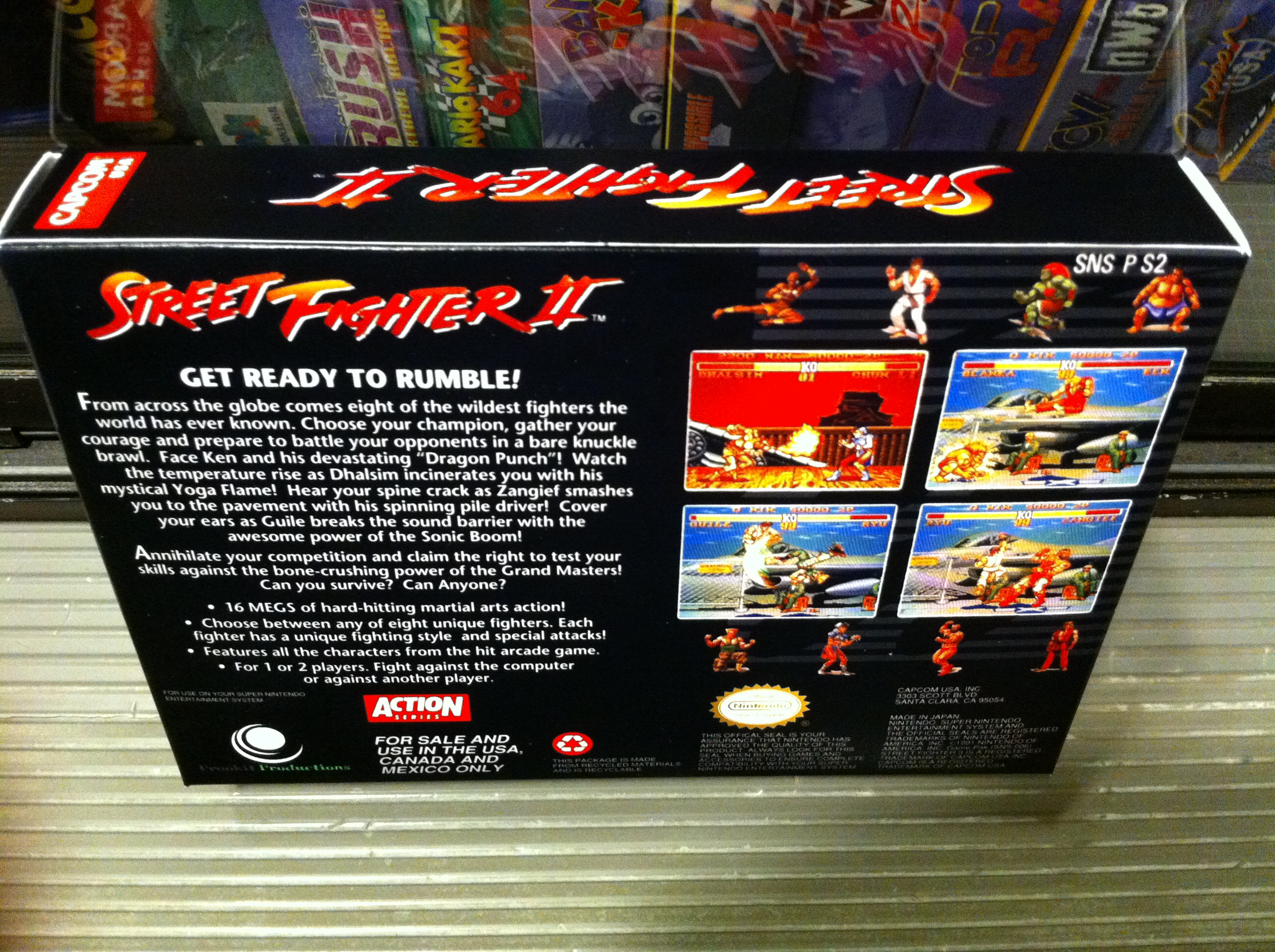 Street Fighter 2 Box My Games Reproduction Game Boxes