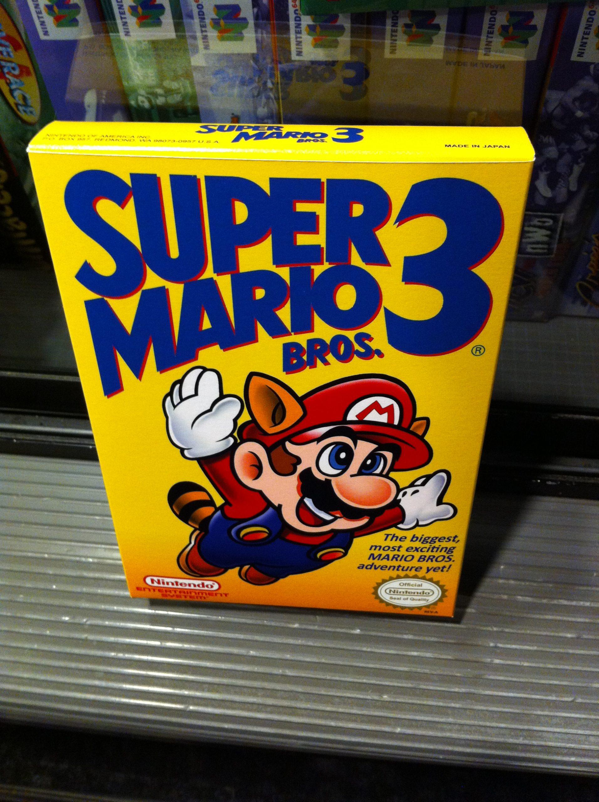 super mario bros 3 nes box
